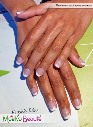 Vernis semi-permanent french