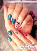 nail art vernis semi-permanent sur renforcement ongles naturels